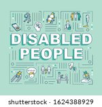disabled people word concepts...