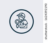 detective icon vector from... | Shutterstock .eps vector #1624392190