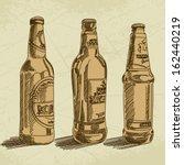 vector beer background | Shutterstock .eps vector #162440219