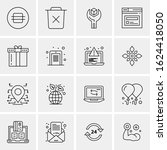 business icon set. 16 universal ...   Shutterstock .eps vector #1624418050