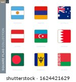 square flags collection of the... | Shutterstock .eps vector #1624421629