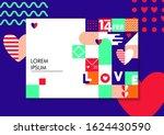 bright background for valentine'...   Shutterstock .eps vector #1624430590