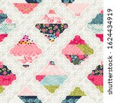 seamless pattern with patchwork ... | Shutterstock .eps vector #1624434919