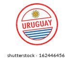 passport style uruguay rubber... | Shutterstock . vector #162446456