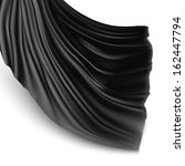 illustration with black silk... | Shutterstock .eps vector #162447794
