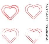 tire tracks in heart form. car... | Shutterstock .eps vector #1624485799