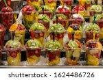 Fruit Slices In Transparent...
