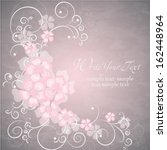 wedding card or invitation with ... | Shutterstock .eps vector #162448964