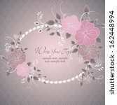 wedding card or invitation with ... | Shutterstock .eps vector #162448994