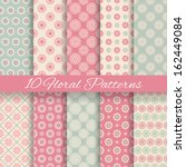 10 floral different vector... | Shutterstock .eps vector #162449084