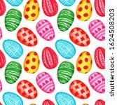 watercolor spring easter...   Shutterstock . vector #1624508203