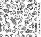 vector hand drawn seamless... | Shutterstock .eps vector #1624554940
