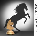 chess horse with  shadow as a... | Shutterstock . vector #162458840