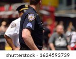 Nypd Officers Stands Guard In...