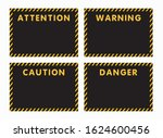 attention  danger  caution ...   Shutterstock .eps vector #1624600456