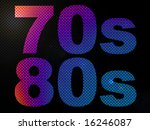 70s 80s decade led lights sign... | Shutterstock . vector #16246087