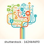 social network tree | Shutterstock .eps vector #162464693