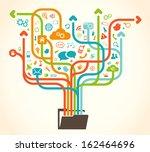 social network tree   Shutterstock .eps vector #162464696