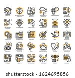 set of creative process thin... | Shutterstock .eps vector #1624695856