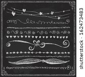 hand drawn vector line border... | Shutterstock .eps vector #162473483