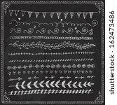 draw chalkboard chalk border... | Shutterstock .eps vector #162473486