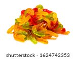 juicy colorful jelly sweets.... | Shutterstock . vector #1624742353