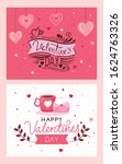 set cards of happy valentines... | Shutterstock .eps vector #1624763326