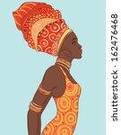 portrait of beautiful african...   Shutterstock .eps vector #162476468