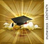 academic,accomplishment,achievement,bachelor,backdrop,black,cap,celebration,ceremony,certificate,clouds,college,cover,credential,design