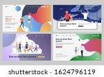set of family spending holidays ... | Shutterstock .eps vector #1624796119
