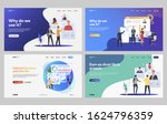 set of managers analyzing... | Shutterstock .eps vector #1624796359
