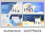 set of business people planning ... | Shutterstock .eps vector #1624796626