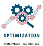 optimization icon. outline...