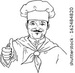 hand drawn chef | Shutterstock .eps vector #162484820
