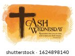 Ash Wednesday Poster Vector...