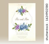 wedding card template with...   Shutterstock .eps vector #1624902580