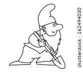 elf and spade | Shutterstock .eps vector #162494030