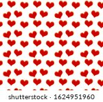 red hearts seamless pattern.... | Shutterstock . vector #1624951960