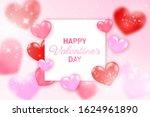 happy valentine's day banner... | Shutterstock .eps vector #1624961890