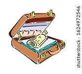 open suitcase with clothes for... | Shutterstock .eps vector #1624972546