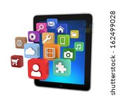 tablet app icons   isolated on...   Shutterstock . vector #162499028