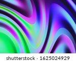3d render. abstract wavy flow... | Shutterstock . vector #1625024929
