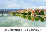 skyline view of maribor city ... | Shutterstock . vector #162504824