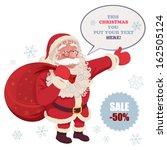 santa claus advertising santa... | Shutterstock .eps vector #162505124