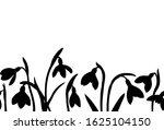 vector spring seamless border... | Shutterstock .eps vector #1625104150