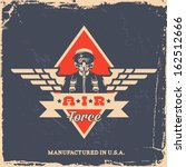 vintage air force label with... | Shutterstock .eps vector #162512666