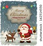 Vintage Christmas Poster Design ...
