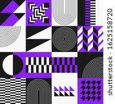 geometry mural artwork with... | Shutterstock .eps vector #1625158720