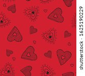cute doodle seamless pattern...   Shutterstock .eps vector #1625190229