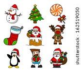 christmas cartoon .vector ... | Shutterstock .eps vector #162519050